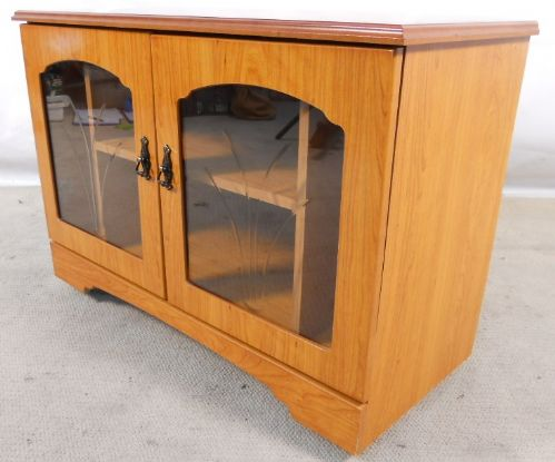 Yew Entertainment Cabinet Cupboard Storage Unit